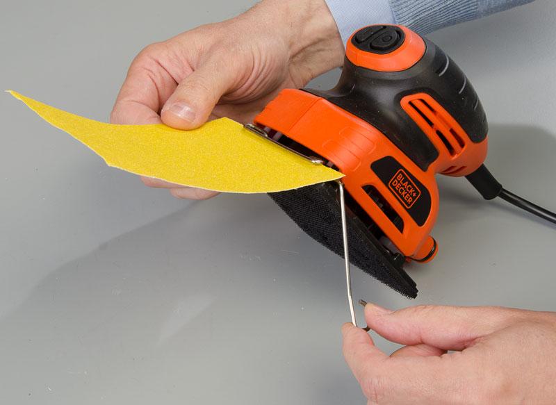 fissaggio carta abrasiva