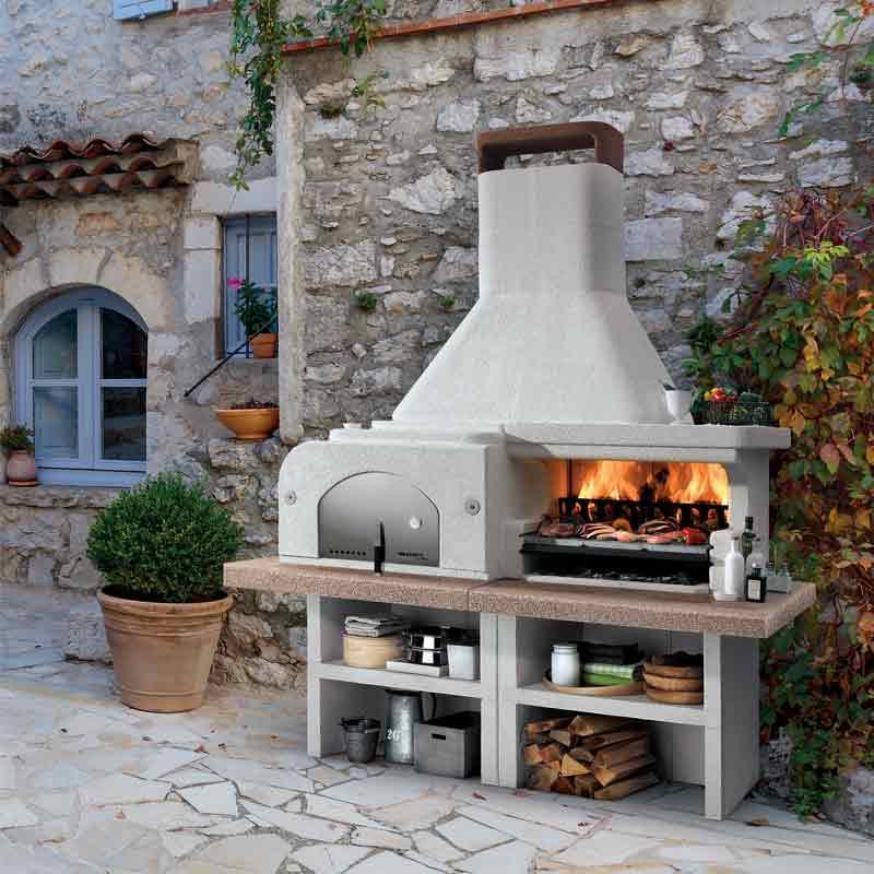Barbecue in cemento Gargano 3 con forno Palazzetti