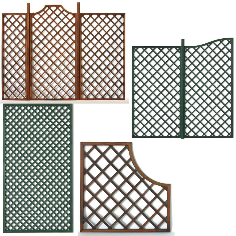 pannelli grigliati in legno