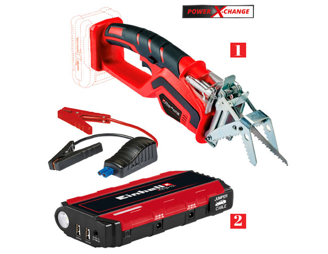tagliarami a batteria GE-GS 18 Li e jump start-power bank CE-JS 12