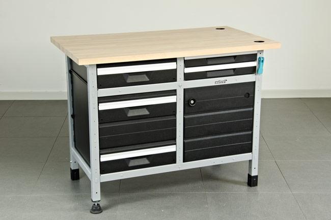 banco lavoro con cassettiera
